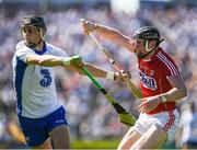 18 June 2017; Maurice Shanahan of Waterford in action against Damien Cahalane of Cork during the Munster GAA Hurling Senior Championship Semi-Final match between Waterford and Cork at Semple Stadium in Thurles, Co Tipperary.  Photo by Ray McManus/Sportsfile