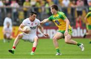 18 June 2017; Mattie Donnelly of Tyrone is tackled by Eoghan Bán Gallagher of Donegal during the Ulster GAA Football Senior Championship Semi-Final match between Tyrone and Donegal at St Tiernach's Park in Clones, Co. Monaghan. Photo by Ramsey Cardy/Sportsfile