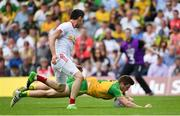 18 June 2017; Eoghan Bán Gallagher of Donegal in action against Mattie Donnelly of Tyrone during the Ulster GAA Football Senior Championship Semi-Final match between Tyrone and Donegal at St Tiernach's Park in Clones, Co. Monaghan. Photo by Ramsey Cardy/Sportsfile