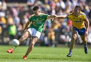 18 June 2017; Darragh Rooney of Leitrim in action against John McManus of Roscommon  during the Connacht GAA Football Senior Championship Semi-Final match between Roscommon and Leitrim at Dr Hyde Park in Roscommon. Photo by David Maher/Sportsfile