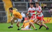 18 June 2017; Tiarnan McAteer of Antrim during the Ulster Minor Football Championship Semi-Final match between Derry and Antrim at St Tiernach's Park in Clones, Co. Monaghan. Photo by Ramsey Cardy/Sportsfile