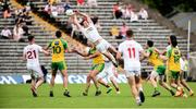 18 June 2017; Colm Cavanagh of Tyrone in action against Michael Murphy of Donegal  during the Ulster GAA Football Senior Championship Semi-Final match between Tyrone and Donegal at St Tiernach's Park in Clones, Co. Monaghan. Photo by Oliver McVeigh/Sportsfile