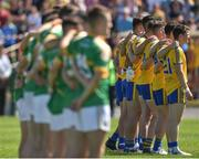 18 June 2017; The two teams of Roscommon and Leitrim line up before the start of the Connacht GAA Football Senior Championship Semi-Final match between Roscommon and Leitrim at Dr Hyde Park in Roscommon. Photo by David Maher/Sportsfile