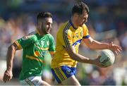 18 June 2017; Diarmuid Murtagh of Roscommon in action against Noel Plunkett of Leitrim during the Connacht GAA Football Senior Championship Semi-Final match between Roscommon and Leitrim at Dr Hyde Park in Roscommon. Photo by David Maher/Sportsfile