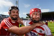 18 June 2017; Christopher Joyce, left, and Anthony Nash of Cork celebrate after the Munster GAA Hurling Senior Championship Semi-Final match between Waterford and Cork at Semple Stadium in Thurles, Co Tipperary.  Photo by Piaras Ó Mídheach/Sportsfile
