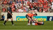 18 June 2017; Conor Lehane of Cork is treated for an injury during the Munster GAA Hurling Senior Championship Semi-Final match between Waterford and Cork at Semple Stadium in Thurles, Co Tipperary.  Photo by Piaras Ó Mídheach/Sportsfile
