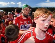 18 June 2017; Alan Cadogan of Cork signs shirts of young supporters after the Munster GAA Hurling Senior Championship Semi-Final match between Waterford and Cork at Semple Stadium in Thurles, Co Tipperary.  Photo by Ray McManus/Sportsfile