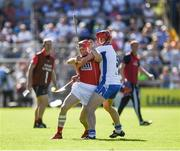 18 June 2017; Daniel Kearney of Cork in action against Tadhg de Búrca of Waterford during the Munster GAA Hurling Senior Championship Semi-Final match between Waterford and Cork at Semple Stadium in Thurles, Co Tipperary.  Photo by Ray McManus/Sportsfile