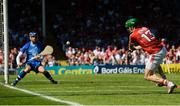 18 June 2017; Alan Cadogan of Cork takes a shot that was saved by Stephen O'Keeffe of Waterford during the Munster GAA Hurling Senior Championship Semi-Final match between Waterford and Cork at Semple Stadium in Thurles, Co Tipperary.  Photo by Piaras Ó Mídheach/Sportsfile