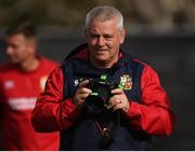 19 June 2017; British and Irish Lions head coach Warren Gatland during the captain's run at Beetham Park in Hamilton, New Zealand. Photo by Stephen McCarthy/Sportsfile