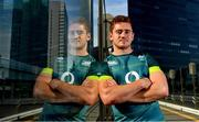19 June 2017; Paddy Jackson of Ireland poses for a portrait after an Ireland rugby press conference at the Conrad Hotel in Tokyo, Japan. Photo by Brendan Moran/Sportsfile
