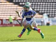 18 June 2017; Sean Rowley of Oylegate-Glenbrien, Co. Wexford in action against Brandon Hogan of Kanturk GAA, Club, Co. Cork during the Division 6 Final at the John West Féile na nGael national competition which took place this weekend across Carlow, Kilkenny and Waterford. This is the second year that the Féile na nGael and Féile Peile na nÓg have been sponsored by John West, one of the world's leading suppliers of fish. The competition gives up-and-coming GAA superstars the chance to participate and play in their respective Féile tournament, at a level which suits their age, skills and strengths. Photo by Matt Browne/Sportsfile