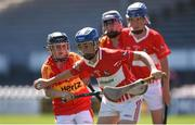 18 June 2017; Conor McLoughlin of Feathar-St Mogues, Co Wexford in action against Horeswood, Co Wexford during the Division 5 Final between Feathar-St Mogues, Co Wexford and Horsewood, Co. Wexfordat the John West Féile na nGael national competition which took place this weekend across Carlow, Kilkenny and Waterford. This is the second year that the Féile na nGael and Féile Peile na nÓg have been sponsored by John West, one of the world's leading suppliers of fish. The competition gives up-and-coming GAA superstars the chance to participate and play in their respective Féile tournament, at a level which suits their age, skills and strengths. Photo by Matt Browne/Sportsfile