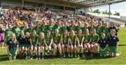 18 June 2017; The Kilcormac-Killoughey, Co. Offaly team before the Division 2 Camogie Final between Dicksboro, Co. Kilkenny and Kilcormac-Killoughey, Co. Offaly at the John West Féile na nGael national competition which took place this weekend across Carlow, Kilkenny and Waterford. This is the second year that the Féile na nGael and Féile Peile na nÓg have been sponsored by John West, one of the world's leading suppliers of fish. The competition gives up-and-coming GAA superstars the chance to participate and play in their respective Féile tournament, at a level which suits their age, skills and strengths. Photo by Matt Browne/Sportsfile