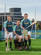 19 June 2017; As a long-standing sponsor of the GAA Hurling All-Ireland Senior Championship, Centra today launched #WeAreHurling, which celebrates the passion displayed by all of those in Ireland's collective hurling community. #WeAreHurling reinforces Centra's commitment to local communities across Ireland by shining a light on the many people who devote their lives to the game – making our national sport a pillar of Irish pride. Pictured today in attendance are, from left, Clare hurler Padraic Collins, Kilkenny hurler Michael Fennelly and Wexford hurler Lee Chin, during the Centra Hurling Media Launch at Smithfield Square & The Lighthouse Cinema, in Dublin 7. Photo by Seb Daly/Sportsfile