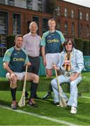 19 June 2017; As a long-standing sponsor of the GAA Hurling All-Ireland Senior Championship, Centra today launched #WeAreHurling, which celebrates the passion displayed by all of those in Ireland's collective hurling community. #WeAreHurling reinforces Centra's commitment to local communities across Ireland by shining a light on the many people who devote their lives to the game – making our national sport a pillar of Irish pride. Pictured today in attendance are, from left, Kilkenny hurler Michael Fennelly, former Kilkenny All-Ireland winner and uncle to Michael Fennelly, Liam Fennelly, former Kilkenny hurler and ten-time All-Ireland winner Henry Shefflin, and Kilkenny super-fan Myles Kavanagh, from Kilkenny City, during the Centra Hurling Media Launch at Smithfield Square & The Lighthouse Cinema, in Dublin 7. Photo by Seb Daly/Sportsfile