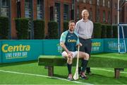 19 June 2017; As a long-standing sponsor of the GAA Hurling All-Ireland Senior Championship, Centra today launched #WeAreHurling, which celebrates the passion displayed by all of those in Ireland's collective hurling community. #WeAreHurling reinforces Centra's commitment to local communities across Ireland by shining a light on the many people who devote their lives to the game – making our national sport a pillar of Irish pride. Pictured today in attendance are, from left, Kilkenny hurler Michael Fennelly and his uncle, former Kilkenny All-Ireland winner Liam Fennelly, during the Centra Hurling Media Launch at Smithfield Square & The Lighthouse Cinema, in Dublin 7. Photo by Seb Daly/Sportsfile