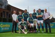 19 June 2017; As a long-standing sponsor of the GAA Hurling All-Ireland Senior Championship, Centra today launched #WeAreHurling, which celebrates the passion displayed by all of those in Ireland's collective hurling community. #WeAreHurling reinforces Centra's commitment to local communities across Ireland by shining a light on the many people who devote their lives to the game – making our national sport a pillar of Irish pride. Pictured today in attendance are, from left, former Galway Hurler and owner of Canning Handmade Hurleys Ollie Canning, Clare hurler Padraic Collins, young aspiring hurler Tadgh Rowe, age 10, from Kilmore, Co. Wexford, former Cork hurler and All-Ireland winner Seán Óg O hAilpín, Kilkenny hurler Michael Fennelly, former Kilkenny hurler and ten-time All-Ireland winner Henry Shefflin, Wexford hurler Lee Chin, and former Kilkenny All-Ireland winner and uncle to Michael Fennelly, Liam Fennelly, during the Centra Hurling Media Launch at Smithfield Square & The Lighthouse Cinema, in Dublin 7. Photo by Seb Daly/Sportsfile