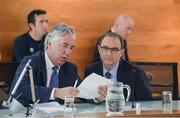 19 June 2017; FAI Chief Executive John Delaney, left, and Republic of Ireland manager Martin O'Neill at the new FAI/Offaly County Council Development Officer Announcement. The Football Association of Ireland is delighted to announce a three-year-partnership with Offaly County Council for a co-funded Football Development Officer. The announcement in Tullamore this afternoon means that the Football Association of Ireland now has at least one Football Development Officer in every county in the Republic of Ireland. Áras an Chontae, Kilcruttin, Tullamore, Co Offaly. Photo by Piaras Ó Mídheach/Sportsfile