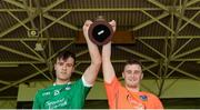 18 June 2017; Limerick joint-captains Thomas Grimes, left, and Cian Hedderman lift the cup after the Munster GAA Under 25 Reserve Hurling Competition Final match between Limerick and Waterford at Semple Stadium in Thurles, Co. Tipperary. Photo by Piaras Ó Mídheach/Sportsfile