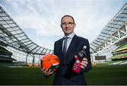 21 June 2017; Republic of Ireland manager Martin O'Neill in attendance during the launch of new partnership between the Football Association of Ireland and iPro Sport, who were announced as the official sports drink of the FAI. Photo by Sam Barnes/Sportsfile