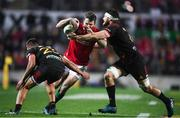20 June 2017; Jared Payne of the British & Irish Lions in action against Chase Tiatia, left, and Mitchell Brown of the Chiefs during the match between the Chiefs and the British & Irish Lions at FMG Stadium in Hamilton, New Zealand. Photo by Stephen McCarthy/Sportsfile