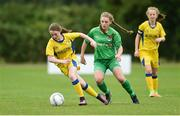 22 June 2017; Emma O'Sullivan of Tipperary Schoolboys/Girls Southern & District League in action against Emma Donovan of Limerick Desmond Schoolboys/Girls League during the Fota Island Resort FAI Gaynor Cup at University of Limerick in Limerick. Photo by Diarmuid Greene/Sportsfile