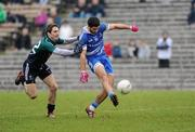 12 February 2012; Neil Mcadam, Monaghan, in action against Gary White, Kildare. Allianz Football League, Division 2, Round 2, Monaghan v Kildare, St Tiernach's Park, Clones, Co Monaghan. Picture credit: Barry Cregg / SPORTSFILE