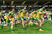 18 June 2017; Michael Murphy, centre, and his Donegal teammates during the Ulster GAA Football Senior Championship Semi-Final match between Tyrone and Donegal at St Tiernach's Park in Clones, Co. Monaghan. Photo by Ramsey Cardy/Sportsfile