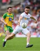 18 June 2017; Pádraig Hampsey of Tyrone during the Ulster GAA Football Senior Championship Semi-Final match between Tyrone and Donegal at St Tiernach's Park in Clones, Co. Monaghan. Photo by Ramsey Cardy/Sportsfile