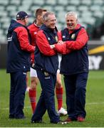 23 June 2017; British & Irish Lions head coach Warren Gatland, right, and attack coach Rob Howley during their captain's run at QBE Stadium in Auckland, New Zealand. Photo by Stephen McCarthy/Sportsfile