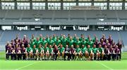 23 June 2017; The Ireland squad and management pose for a squad photograph before their captain's run at the Ajinomoto Stadium in Tokyo, Japan. Photo by Brendan Moran/Sportsfile