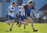 12 March 2017; Katie Murray of WIT in action against DIT  during the Lynch Cup Final match between Waterford Institute of Technology and Dublin Institute of Technology at St Patrick's Park in Westport, Co. Mayo. Photo by Brendan Moran/Sportsfile