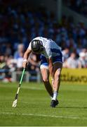 18 June 2017; Maurice Shanahan of Waterford pulls up with an injury after taking a free during the Munster GAA Hurling Senior Championship Semi-Final match between Waterford and Cork at Semple Stadium in Thurles, Co Tipperary.  Photo by Piaras Ó Mídheach/Sportsfile