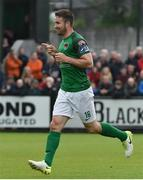 23 June 2017; Gearoid Morrissey of Cork City celebrates after scoring his side's second goal during the SSE Airtricity League Premier Division match between Derry City and Cork City at Maginn Park in Buncrana, Co Donegal. Photo by David Maher/Sportsfile