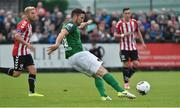 23 June 2017; Gearoid Morrissey of Cork City shoots to score his side's second goal during the SSE Airtricity League Premier Division match between Derry City and Cork City at Maginn Park in Buncrana, Co Donegal. Photo by David Maher/Sportsfile