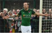 23 June 2017; Karl Sheppard of Cork City celebrates after scoring his side's first goal during the SSE Airtricity League Premier Division match between Derry City and Cork City at Maginn Park in Buncrana, Co Donegal. Photo by David Maher/Sportsfile