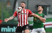 23 June 2017; Rory Patterson of Derry City in action against Jimmy Keohane of Cork City during the SSE Airtricity League Premier Division match between Derry City and Cork City at Maginn Park in Buncrana, Co Donegal. Photo by David Maher/Sportsfile