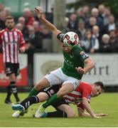 23 June 2017; Gearoid Morrissey of Cork City in action against Conor McDermott of Derry City during the SSE Airtricity League Premier Division match between Derry City and Cork City at Maginn Park in Buncrana, Co Donegal. Photo by David Maher/Sportsfile