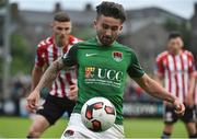 23 June 2017; Sean Maguire of Cork City in action against Conor McDermott of Derry City during the SSE Airtricity League Premier Division match between Derry City and Cork City at Maginn Park in Buncrana, Co Donegal. Photo by David Maher/Sportsfile