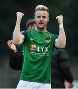 23 June 2017; Kevin O'Connor of Cork City celebrates at the end of the SSE Airtricity League Premier Division match between Derry City and Cork City at Maginn Park in Buncrana, Co Donegal. Photo by David Maher/Sportsfile