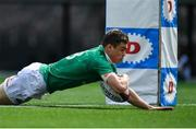 24 June 2017; Garry Ringrose of Ireland scores his side's first try during the international rugby match between Japan and Ireland in the Ajinomoto Stadium in Tokyo, Japan. Photo by Brendan Moran/Sportsfile