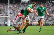24 June 2017; Josh van der Flier of Ireland is tackled by Jumpei Ogura of Japan on the way to scoring his side's second try during the international rugby match between Japan and Ireland in the Ajinomoto Stadium in Tokyo, Japan. Photo by Brendan Moran/Sportsfile