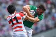 24 June 2017; Jack Conan of Ireland is tackled by Kenki Fukuoka of Japan during the international rugby match between Japan and Ireland in the Ajinomoto Stadium in Tokyo, Japan. Photo by Brendan Moran/Sportsfile