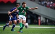 24 June 2017; Paddy Jackson of Ireland kicks a conversion during the international rugby match between Japan and Ireland in the Ajinomoto Stadium in Tokyo, Japan. Photo by Brendan Moran/Sportsfile