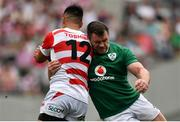 24 June 2017; Cian Healy of Ireland tackles Yu Tamura of Japan during the international rugby match between Japan and Ireland in the Ajinomoto Stadium in Tokyo, Japan. Photo by Brendan Moran/Sportsfile