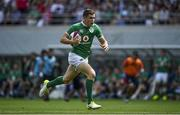 24 June 2017; Garry Ringrose of Ireland runs through on the way to scoring his side's first try during the international rugby match between Japan and Ireland in the Ajinomoto Stadium in Tokyo, Japan. Photo by Brendan Moran/Sportsfile