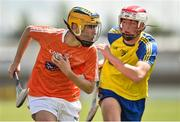 24 June 2017; Oisin Murphy of Armagh in action against Matthew Comerford of Roscommon during the Bank of Ireland Celtic Challenge Corn Michael Feery Final match between Armagh and Roscommon at Netwatch Cullen Park in Carlow. Photo by Seb Daly/Sportsfile
