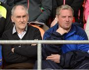 24 June 2017; Tyrone manager Mickey Harte, left, and assistant manager  Gavin Devlin during the Ulster GAA Football Senior Championship Semi-Final match between Down and Monaghan at the Athletic Grounds in Armagh. Photo by Oliver McVeigh/Sportsfile