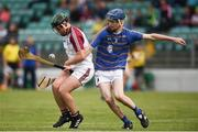 24 June 2017; Eoin Caulfield of Galway Maroon in action against Brian Barlow of South Tipperary during the Bank of Ireland Celtic Challenge Corn Michael Hogan Final match between Galway Maroon and South Tipperary at Netwatch Cullen Park in Carlow. Photo by Seb Daly/Sportsfile
